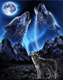 Wolf or Wolves howling Edible Cake Topper for 1/4 Sheet cake