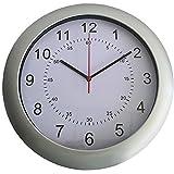 Seco - Reloj de Pared (300 mm), Color Plateado