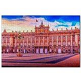 España Palacio Real De Madrid Rompecabezas para Adultos, 1000 Piezas de Madera, Regalo de Viaje, Recuerdo, 30x20 Pulgadas
