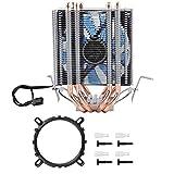 ASHATA Prozessorkühler CPU Kühler, CPU Lüfter Flüsterleiser Prozessorkühler 4 Wärmeröhre,LED Licht CPU Ventilator 48CFM PWM Lüfter CPU Kühler für Intel LGA 1156/1155/1150/775 und AMD(Blau Licht)