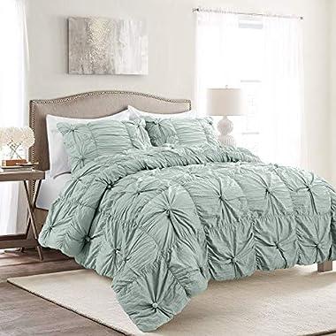 Lush Decor Blue Bella Comforter Set Shabby Chic...