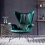 HOUSEHOLD Gaming Chair High Back Bürostuhl Bürostuhl Rac Nordic Single Leder-Sofa-Stuhl Licht Luxuxwohnzimmer Faule Amerikanische Tiger Stuhl Balkon Freizeit High Back Designer-Stuhl (Color : B)