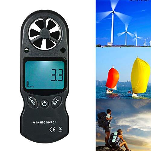 LCXNN Digital Windmesser,8 in 1 Multifunktionsmessgerät,Windgeschwindigkeit/Windchill/Lufttemperatur/Luftfeuchtigkeit/Hitzeindex/Taupunkt/Luftdruck/Höhe