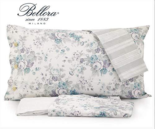 Bellora Bettwäsche für Doppelbett, Agnes 1 Sack 255 x 200 cm + 2 Kissenbezüge 50 x 80 cm