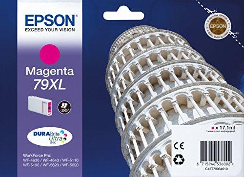 Epson Original T79XL Tintenpatrone Pisa, WF-4630DWF WF-4640DTWF WF-5110DW WF-5190DW WF-5620DWF WF-5690DWF WF-5190DW WF-5690DWF, (magenta)