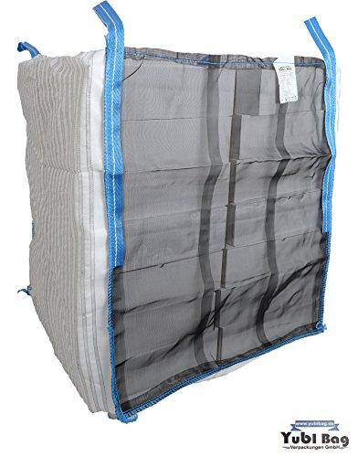 Yubi Bag 10er Pack HolzBag 100x100x160cm Boden offen (Sternboden), Kaminholzsack/Brennholzsack/Woodbag