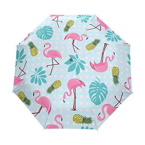 Jeansame - Paraguas de verano con diseño de flamencos tropicales, diseño de...