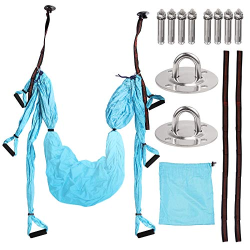 COLFULINE Aerial Yoga Flying Yoga Swing Yoga Hammock Trapeze Sling Inversion Tool for GymHome Fitness with Ceiling Anchors