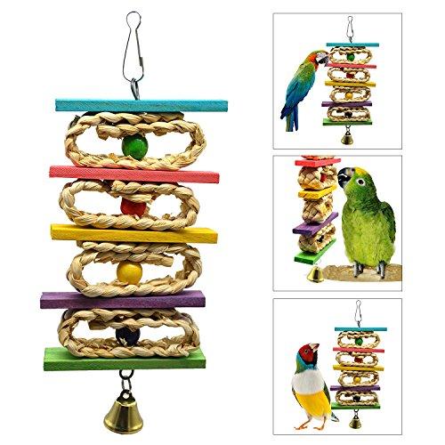 OSPet Parrot Juguetes de Masticación Coloridos para...