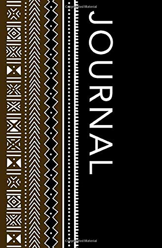 Journal: Black and Brown African Bogolan (Mudcloth) Journal/Notebook
