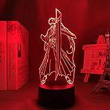 Lámpara de ilusión de luz de noche Led 3D Usb Anime Boys Ble Ach Ichigo Kurosaki Decoración de dormitorio Acrílico...