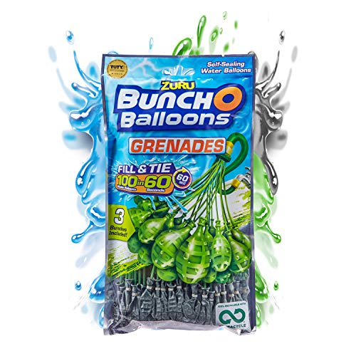 Bunch O Balloons 100 Grenade Rapid-Filling Self-Sealing Water Balloons...