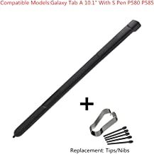 Stylus S Pen for P580 P585,Biuboom Samsung Galaxy Tab A 10.1 2016 SM-P580 P580 P585 Stylus Touch Screen S Stylus Pen Pointer Pen Replacement Parts Stylus S Pen Replacement Tips/Nibs (Black)