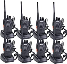 Walkie Talkies for Adults Rechargeable Wireless Long Range Two Way Radios with Earpiece and Charger Included(Pack of 8)
