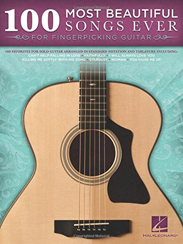 100 Most Beautiful Songs Ever For Fingerpicking Guitar (GUITARE)
