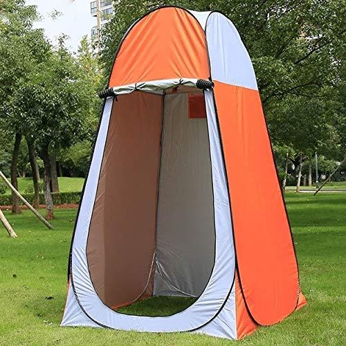 DIDA Zeltzubehör Kleidung wechseln Badezelt mit Fenster Einzel Größe: 190x120x120cm (Color : Orange)