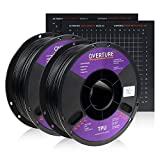 Overture TPU Filament 1.75mm Flexible TPU Roll with 200 x 200 mm Soft 3D Printer Consumabl...