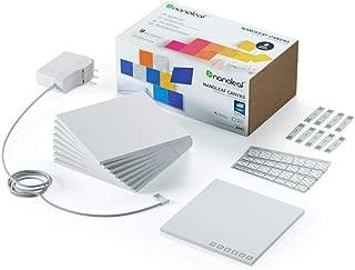 Nanoleaf canvas - Square Modular LED lights panel expansion- Home decor Touch, Voice, Rythm and Application sensitive- Multicolor - Pack of 9