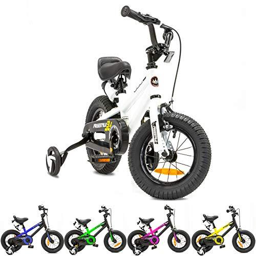 NB Parts - Bicicleta infantil para niños y niñas, BMX, a partir de 3 años, 12 pulgadas / 16 pulgadas, color Blanco, tamaño 12