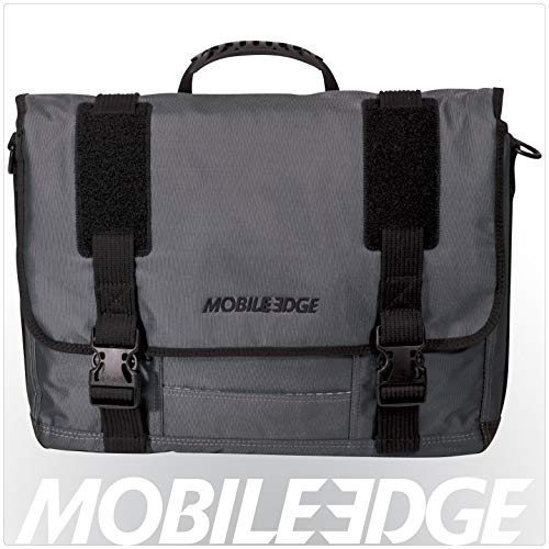 New Mobile Edge Graphite Series Laptop Messenger, 17.3 Inch Premium Exterior Material, Dedicated Pad...