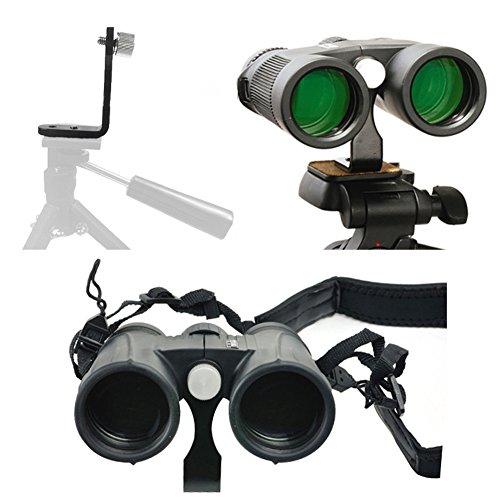 Ueasy L-Type Metal Binocular Fixed Bracket Tripod Adapter Mount Holder Tripod Bracket - for Connecting Binocular Telescope and Camera Tripod Universal