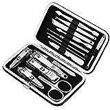Set de manicura y pedicura de 15 piezas de herramientas profesionales de manicura – Tijeras de uñas para dedo del pie de uñas, maleta portátil herramientas de cuidado de belleza