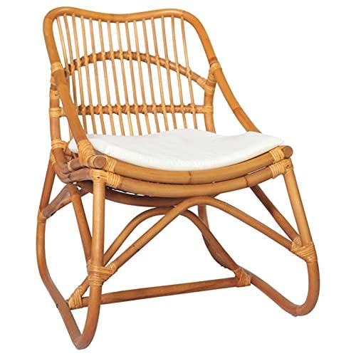 Tidyard Silla de ratán Lino marrón Claro Sillas de Comedor de jardín para Exterior Ratan sillones Jardin Exterior