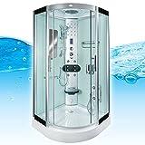 AcquaVapore DTP8046-5002 - Cabina de ducha de vapor (90 x 90 cm, sellado EasyClean, no +0.-EUR