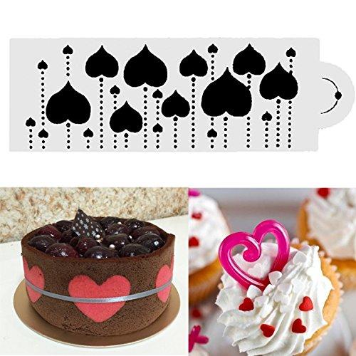 Bazaar hart Side taart sjabloon fondant designer decoreren craft koekjes bakken gereedschap
