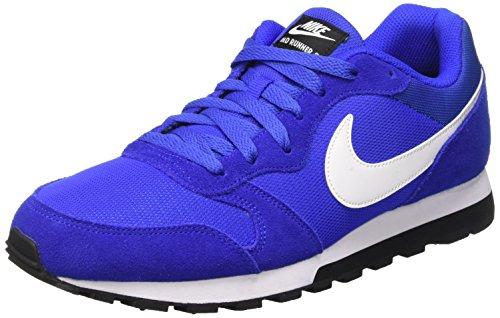 Nike MD Runner 2, Chaussures de Running Homme, Azul/Blanco/Negro (Racer Blue/White-Black), 39 EU