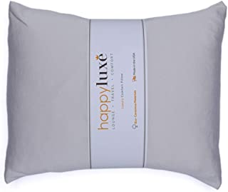 "Happyluxe Travel Pillow, Small Pillow for Neck Support, 13"" x 17"", Lightweight, Side Sleeper, Lumbar Aid, Camping Essentia..."