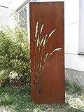 Zen Man Garten Sichtschutz aus Metall Rost Gartenzaun Gartendeko edelrost Sichtschutzwand 150 * 50cm 101549