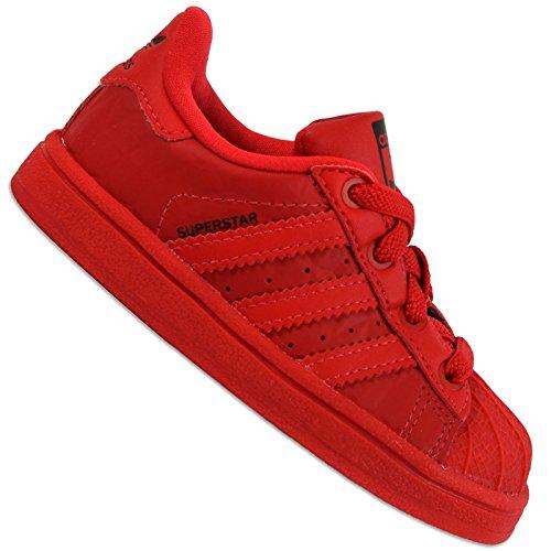 adidas Originals Superstar SST Kleinkind Sneaker Kinderschuhe Schuhe Turnschuhe, Schuhgröße:EUR 20, Farbe:B27526 - Rot