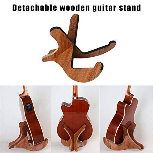 Classicoco Houten Stand, Gitaar Beugel, Gitaar Houder Houten Stand Beugel Houder Plank Mount Draagbare Accessoires voor Akoestische Folk Gitaar