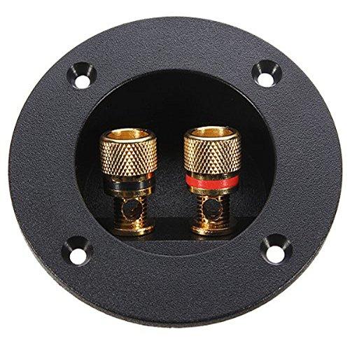 DIY Home Car Stereo 2-Wege-Lautsprecherbox Anschlussklemme Rundschraube Cup-Anschluss (schwarz)