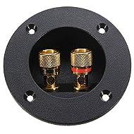 confezione da 50 BQLZR 2/mm rosso nero rame dorato plastica spine a banana adattatore audio speaker cavo connettore pin