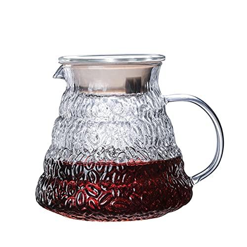 ZHANGZHI Ręczna ekspres do kawy Drewniana ekspres do kawy V60 styl kawy Dripper i filtr kawy Set wielokrotnego użytku Filtry do kawy (Colore : Pot)
