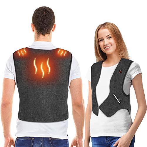 Yosoo Health Gear Lichtgewicht verwarmd vest, elektrische verwarmde jas, wasbare verwarming, lichaamswarmer, gilet, geschenken voor vrouwen, mannen voor de winter, skiën, wandelen, motorfiets, reizen, vissen