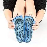 SHDFN - Calcetines de yoga resistentes y antideslizantes, absorbentes de la transpiración, para mujer, talla única