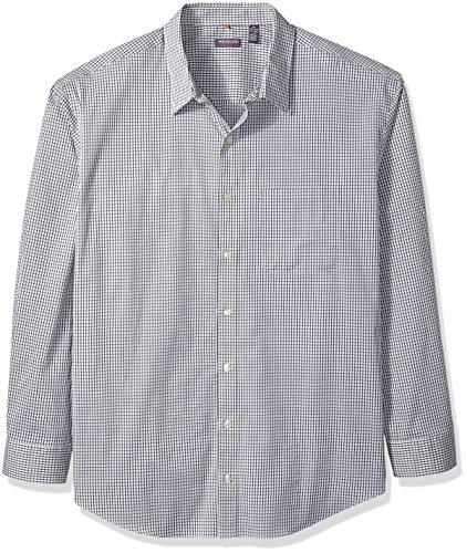 Van Heusen Men's Big Traveler Stretch Long Sleeve Non Iron Shirt, Bright White, 3X-Large Tall