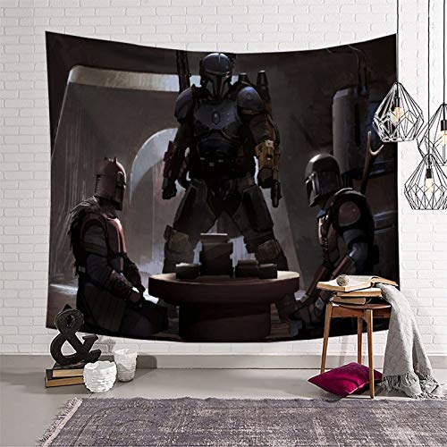 Tapiz decorativo para dormitorio de Star Wars El niño mandaloriano temporada 2 regalos para niños para hombres y dormitorios (130 x 150 cm)