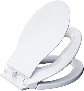 Toilet Seat V-Shaped Universal Thicken Toilet lid, White Ideal 2-in-1, Suitable for Toddlers and Adults,a Space-Saving Solution for Children, Potty Training, Easy to Install and Quick Release