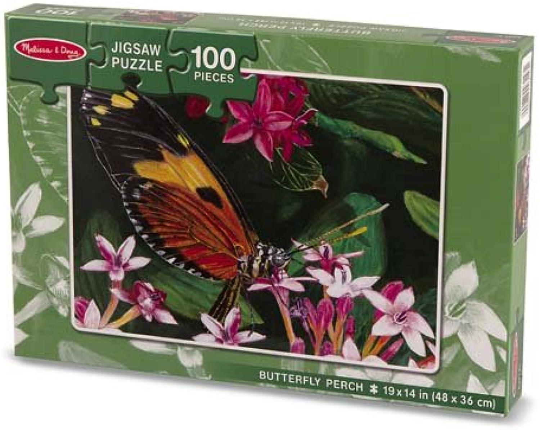 Melissa & Doug Butterfly Perch Jigsaw Puzzle 100 Piece