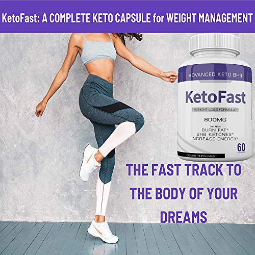 (2-Pack) Keto Fast Diet Pills BHB Advanced Ketogenic Keto Fast Burn Ultra Weight Management Capsules 700mg Pure Keto Fast Supplement for Energy, Focus Boost Exogenous Ketones for Rapid Ketosis 2
