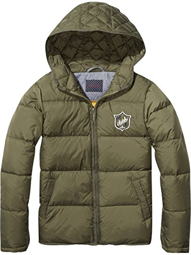 Scotch & Soda Shrunk Jungen Jacket Jacke, Grün (Military Green 1N), 176 (Herstellergröße: 16)