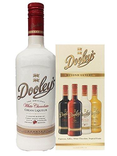 Dooleys Likör White Chocolate mit Wodka 0,7 Liter + Dooleys Cocktailheft
