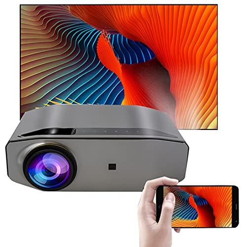 LXLTL Proiettore WiFi Bluetooth Videoproiettore Proiettore Full HD 1080P Nativo Supporta Proiettore per Smartphone Home Theater per Android, PPT, PS4,5