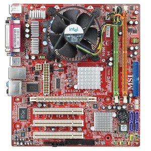 MSI MS-7267 Intel 945G Socket 775 Micro-ATX Motherboard w/Celeron D 336 2.8GHz CPU, Heat Sink & Fan