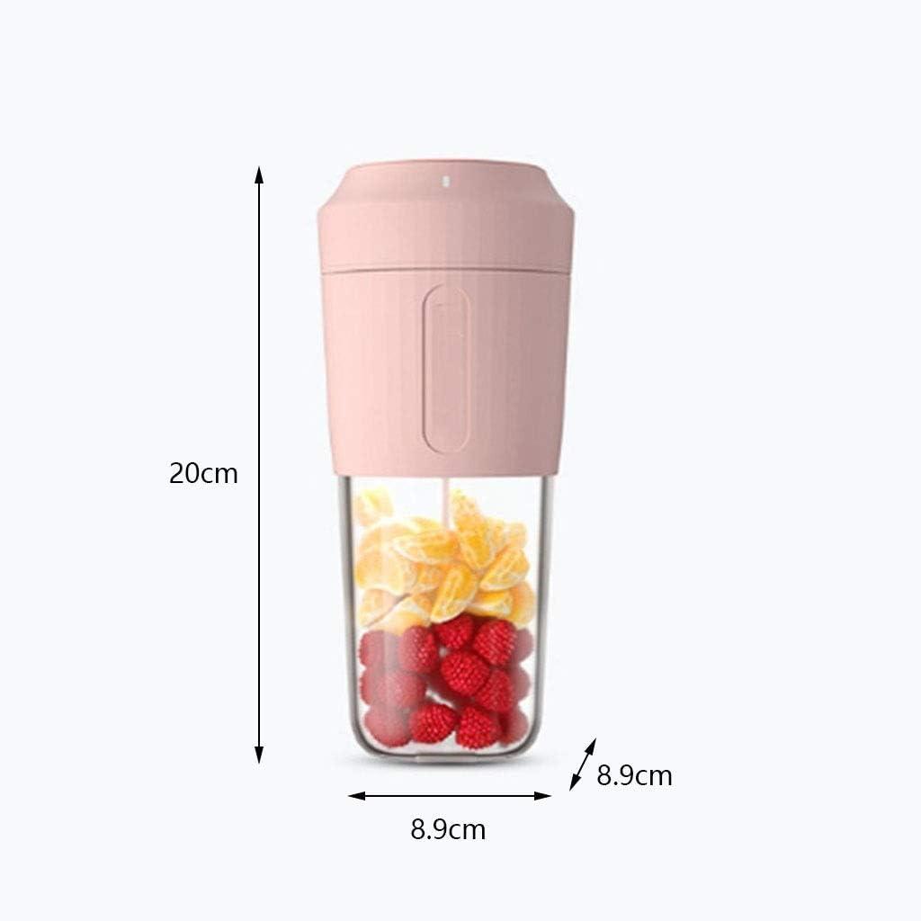 New Portable Electric Fruit Juicer kleine draagbare Mini Net Red Juice Machine Outdoor Kleine USB Juice Cup (kleur: roze/wit/blauw) (Kleur: B) FDWFN (Color : C) A