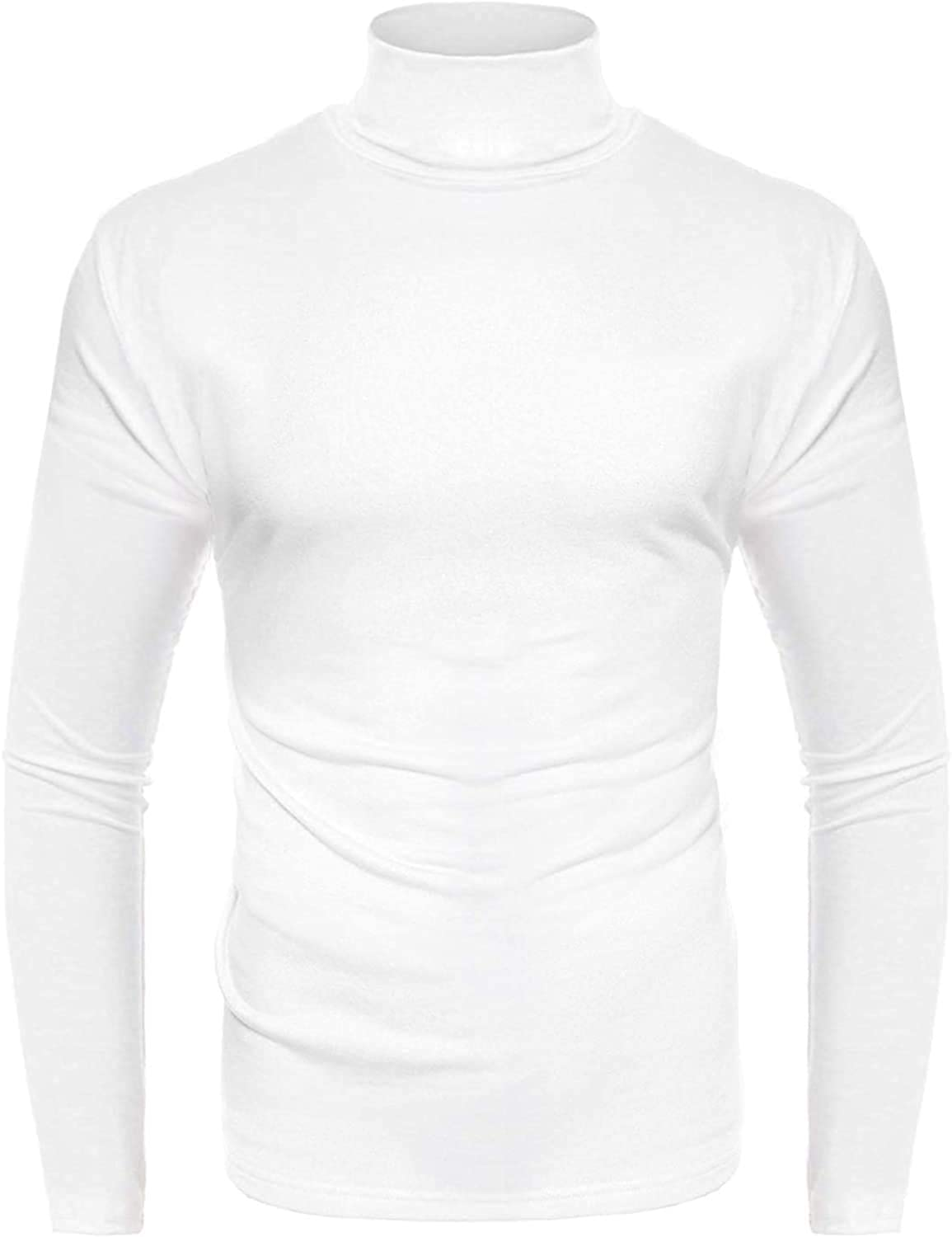 UUANG Challenge the lowest price of Japan Men's Casual Slim Fit Thermal Turtleneck T Shirts Kn Max 73% OFF Basic